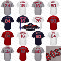 Wholesale steve baseball for sale - 2018 ws Champions boston Steve Pearce Ortiz JD Martinez Dustin Pedroia Mookie Betts Andrew Benintendi Chris Sale Bradley Jr Devers Jerseys