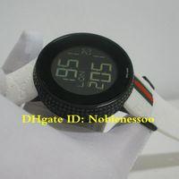 pulseira relógio digital venda por atacado-3 cores Top qualidade de Luxo Mens Digital Quartz 114 Diamante Bisel 44mm Branco Rubber Band Watch YA114208 Relógios de Pulso Unisex Relógios dos homens