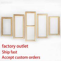 Wholesale custom framed canvas prints resale online - Factory Outlet Panel Wood Frame Set for Canvas Oil Painting Tool Custom DIY Inner Wooden Frame for Painter Gallery Prints