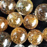Wholesale rutilated crystal for sale - Group buy 2018 new High quality Quartz Rutilated women men jewelry authentic big couple girls male simple fashion Gold Rutilated Quartz lovers gift