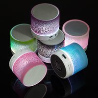 Wholesale Up Mp3 Speaker - Bluetooth Speaker Wireless Speaker Bling Bling LED A9 Subwoofer Stereo Player for IOS Android Phone 30pcs up