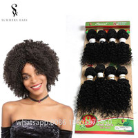 kısa insan saçı örgüleri toptan satış-Ucuz Brezilyalı İnsan Saç Dokuma Paketler 8 adet / grup Dalgalı Saç Uzantıları 8