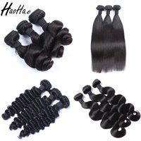 ombre bakire saç toptan satış-100% insan Saç Uzantıları 3 Demetleri ucuz bakire işlenmemiş ombre Remy brezilyalı İnsan saç atkı siyah kadınlar için Özelleştirilmiş Ücretsiz Kargo
