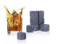 piedras de whisky envío gratis al por mayor-Piedras de whisky, piedra de whisky con bolsa de terciopelo piedra de roca de whisky Gran regalo Envío gratis