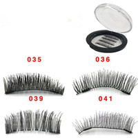 Wholesale sexy hair extensions - 4pcs set 3D Double Magnet False Eyelashes 2 Magnets Magnetic Fake Eye lashes Thick Long Sexy Eyelash Extension CCA9518 50set