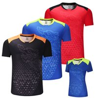 Wholesale new china jerseys resale online - New CHINA Dragon table tennis shirts Men ping pong shirts Chinese table tennis jerseys table tennis clothes sport Shirts Y1893006