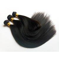 indian remy menschenhaar gut großhandel-Brasilianisches europäisches reines Menschenhaar-Schuss volles Häutchen 8-26inch High-End-Markt ist populäres knappes gutes indisches gerades remy Haar