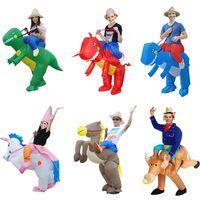 Wholesale pony fashion online - Fashion Cartoon Props Clothing Multi Style Dinosaurs Unicorn Pony Pikachu Inflatable Adult Children Performance Clothings Hot Sale ky ff