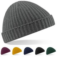 Wholesale Vertical Stripe Shorts - Short Paragraph Ingot Knitted Ski Hat Autumn and Winter Men and Women Outdoor Thermal Retro Single Flanging Vertical Stripes hat