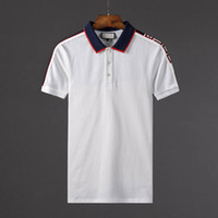 Wholesale Luxury Men Clothes - nyy summer fashion designer luxury G brand tag clothing men fabric letter polo t-shirt turn-down collar casual women tshirt tee polo shirt