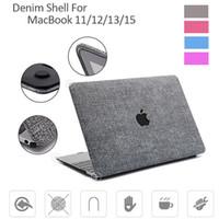 macbook air 13.3 retina al por mayor-De alta calidad de piel de vaquero Retina Touch Bar Crystal Clear Casos de la cubierta protectora completa para Macbook 11.6 12 13.3 15.4 Air Pro