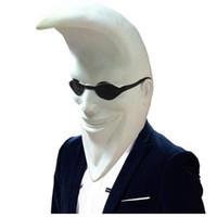 полная маскарад маски мужчин оптовых-Mcdonald Moon Мужчины Латекс Маска Полная Голова Хэллоуин Банан Люди Резиновая Маска Партии Праздник Комедии Маскарад Партии Косплей Реквизит