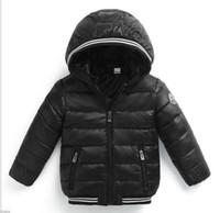 kızlar ceket aşağı çocuklar ceket toptan satış-Erkek Kış Ceket Bebek Kız Ceket Çocuklar Sıcak Kabanlar Çocuk Ceket 2018 Moda Bahar Çocuk Giyim Kız Kapşonlu Aşağı Ceket