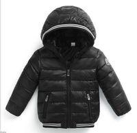 kinder kapuzenjacken mode großhandel-Jungen-Winter-Mantel-Baby-Mädchen-Jacken-Kind-warme Oberbekleidung-Kind-Mantel 2018 Art- und Weisefrühlingskinder-Kleidungs-Mädchen-mit Kapuze unten Mantel