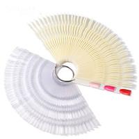 ingrosso gel di bambù-Bamboo Swatch 50 Pz Nail Polish Colore Piatto Plastica a forma di ventaglio FAI DA TE Gel Nails Colore Strumenti per la manicure Strumenti per la Nail Art Attrezzature