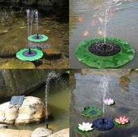 kits de loto al por mayor-Bomba de agua solar Kit de panel de bomba de agua flotante Kit de bomba de piscina de fuente Lotus Leaf Charca flotante Riego Bomba de jardín sumergible OOA5045