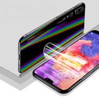 защитный экран для защиты от ударов tpu оптовых-for Huawei P20 / Pro / Lite Honor 10 Note 10 9i Soft TPU Full Cover Screen Protector + Aurora Back Film Anti