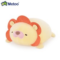 leones de peluche al por mayor-Lovely Sweet Plush Stuffed Metoo Lion Pillow Dolls Animal de dibujos animados suave Kawaii Sleep Toy para niños regalo de cumpleaños de Navidad para niños