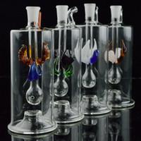 ingrosso tubi petroliferi-Mini tubi di acqua in vetro Multicolor automatico a LED da 5