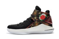 Wholesale Floral Table Runners - What the 32 Boots Men 2018 CHINESE NEW YEAR Runner Basketball Sports Floral Print Shoes Bred Sneakers Size 40-46