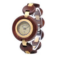 Wholesale Women Wooden Watch - Wooden Watch, Bewell W010A Quartz Casual Wood Wrist Watches for Women with Adjustable Watchband | Gifts for Ladies