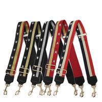 ingrosso punto croce signora-Nuove donne Cross Body Bag Strap cuciture a righe Stripes Star Pattern Ladies Borsa tracolla Borsa accessori Cintura parti