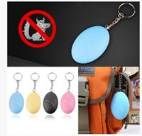 Wholesale Wholesale Security Systems - Alarm systems Self Defense Keychain Alarm Egg Shape Girl Women Anti-Attack Anti-Rape Security Protect Alert Personal Safety Scream Loud