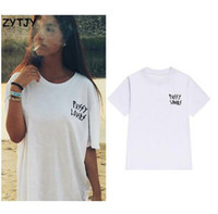 Wholesale girls pussy - pussy lovers pocket Letters Print Women tshirt Cotton Casual Funny t shirt For Lady Girl Top Tee Hipster Tumblr Drop Ship Z-1015