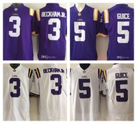 246519ee1 ... mens ncaa lsu tigers 3 odell beckham jr. 5 derrius guice limited jersey  purple white