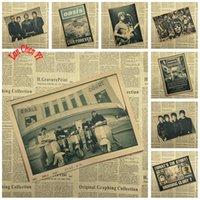 murale classique rose achat en gros de-Vintage OASIS Classique Musique Kraft Papier Affiche Home Decor collection sticker mural