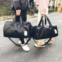 Wholesale leather luggage bags for men resale online - Bomlight Quality Travel Bag PU Leather Couple Travel Bags Hand Luggage For Men And Women New Fashion Duffle Bag