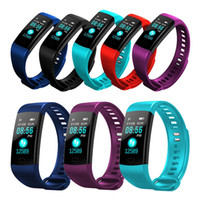 Wholesale Y5 Smart Bluetooth Bracelet Wristband Heart Rate Blood Pressure Fitness Activity Tracker Sleep Monitor Color Screen Smart Band Watch