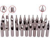 ingrosso punte in acciaio tatuaggio-L'alta qualità 22PCS 304 punte del tatuaggio dell'acciaio inossidabile corredo dell'ugello del tatuaggio fornisce l'insieme misto per gli accessori del tatuaggio che spedice liberamente