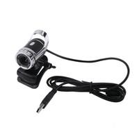 megapixel digitalkamera video großhandel-360 Grad USB2.0 Kamera 12 M Pixel HDWeb Cam Clip-on Digital Video Webkamera mit Mikrofon MIC für Computer PC Laptop Neu