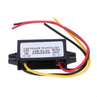 12v 5v dc regler großhandel-DC zu DC Konverter Regler 12V zu 5V 3A 15W Auto Led Display Stromversorgung Großhandel