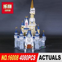 Wholesale Funny Kids Gifts - LEPIN 16008 Cinderella Princess Castle City set 4080pcs Model Building Block Kid DIY Toy Funny Birthday Gift Compatible 71040