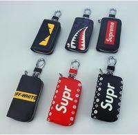 araba anahtarları için deri çantalar toptan satış-SUP Kadınlar Ve Erkekler Deri Anahtar Cüzdan Fermuar Anahtar Çanta Unisex Araba Sahipleri Toka Anahtar Kutu Kahya Tutucu