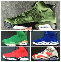 Wholesale pine silver - Be Like Mike White Green VI UNC NRG G8RD Pine Green Gatorade 6 Suede Maroon GATORADE 6s Men Basketball Shoes 6 6s Sneakers Wheat Suede