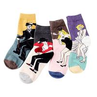 герои мультфильмов оптовых-36 пар / лот SINGYOU новая Корея стиль женщины носки индивидуальный характер мультфильм Pattern студент короткие носки Femme горячей продажи