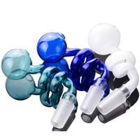 mafsal aksesuarları toptan satış-Yeni Varış Cam Birçok Renkler 14mm ortak Erkek Mavi Cam Borular Su Bongs Sigara Nargile Aksesuarları
