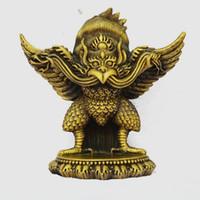 Wholesale god cloth resale online - tibet buddhism Bronze Fly Bird Winged Garuda Redpoll God Tantra Buddha Statue