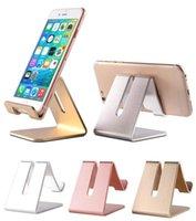 envio gratuito de zte venda por atacado-Universal de metal de alumínio suporte da mesa do telefone móvel tablet suporte para iphone 7 plus samsung s8 plus zte max xl com pacote de varejo navio livre