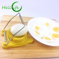 Wholesale egg slicer cutter for sale - Group buy HELLOLIFE Multifunctional Egg Cutter Stainless Steel Cutting Wire Egg Slicer Slicing Cook Tool Boiled Egg Sectioner Cutter
