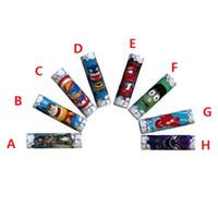 ingrosso adesivi dell'eroe-NUOVA HERO 18650 Batteria Wrap Paper Flag Skull Style Batterie ricaricabili Shrink Sticker Wrapper per LG HG2 Samsung 25R 30Q Sony VTC6 VTC5