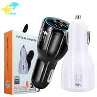 Wholesale fast package - High Quality Car Charger 9V 2A 12V 1.2A QC3.0 fast car charge 3.1A Dual USB Adapter Charger for Samsung Galaxy S8 with package