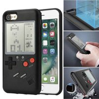 Wholesale Play Console Games - Retro Real Game Console Play Gameboy Tetris Phone Case for iPhone X 6 7 8 Plus Cases Covers Skins