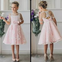 b7c06b12b Wholesale 11 12 years old girls dresses for sale - Group buy Fancy Pink  Flower Girl