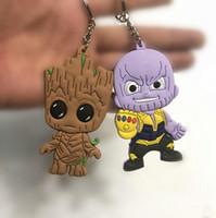 boneca de crianças negras venda por atacado-Novos Vingadores 3 Guerra Infinito Thanos Pantera Negra Groot PVC Figuras de Ação Brinquedos Boneca Chaveiro Caçoa o Presente