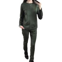 Wholesale yoga pants hoodie online - New Fashion Women S Autumn Suede Tracksuit Women Hoodies Piece Set T Shirts Long Pants Leisure Suits