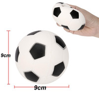 Wholesale hot toys soccer for sale - Soccer Football Squishy Toys Baseball Basketball Volleyball Slow Rising Jumbo Squeeze Phone Charms Cream Bread Stress Reliever Gift HOT